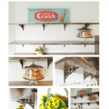 DIY Open Kitchen Shelves - Pocketful of Posies