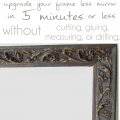 How to Upgrade Your Buildergrade Mirror in 5 minutes or less - Pocketful of Posies