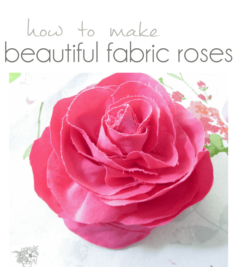 How To Make A Two Story Living Room Cozy: How To: Easy Beautiful Fabric Roses
