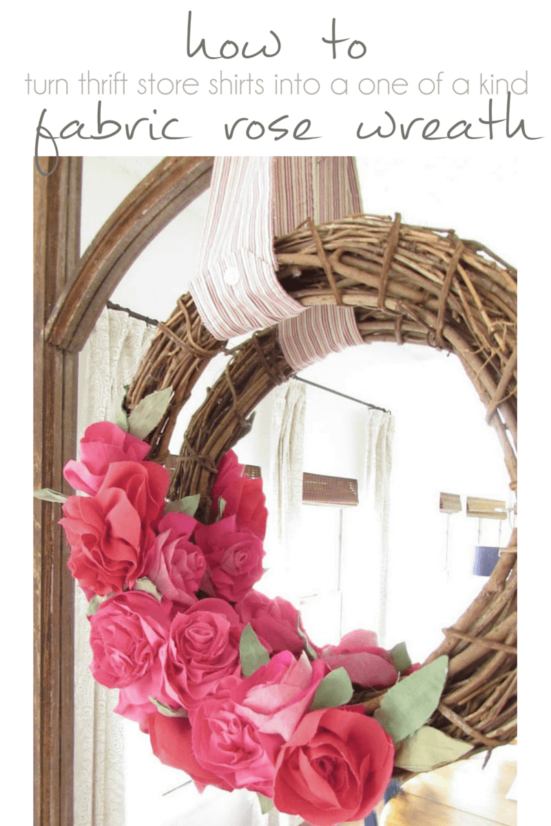 Step by Step instructions how to make beautiful fabric rose wreath - Pocketful of Posies