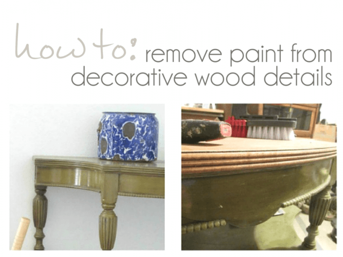 How to remove paint from wood carvings - pocketful of Posies