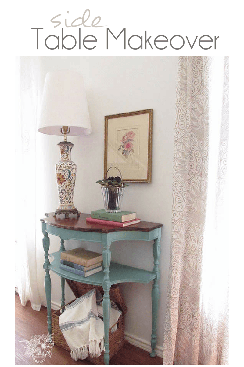 Pretty little key table gets a much needed makeover - Pocketful of Posies