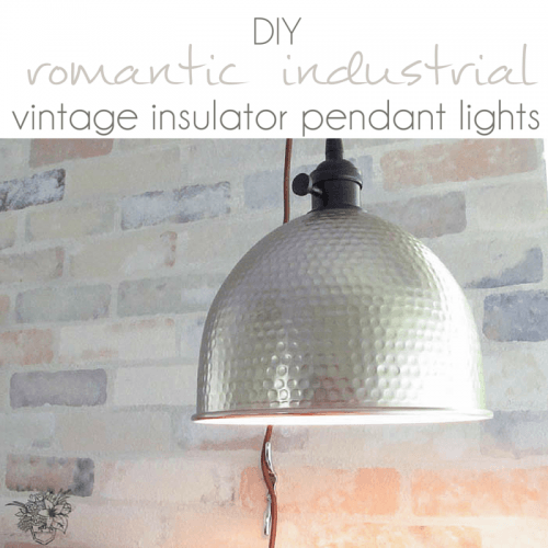 DIY Industrial Vintage Insulator Pendant Lights - Pocketful of Posies