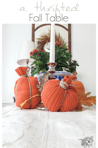 Fall decorating ideas using thrifted finds - Pocketful of Posies