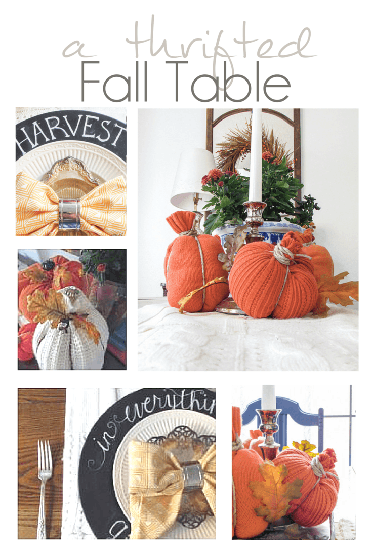 Fall Budget Decorating with Thrifted Finds - Pocketful of Posies