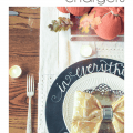 Step by Step Chalkboard Charger Plates - Pocketful of Posies