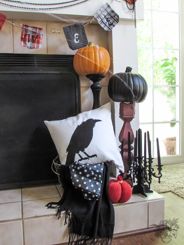 A Halloween Mantle Halloween Decorating Ideas - Pocketful of Posies