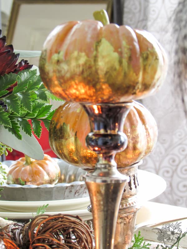 Nature and Metal inspired Fall Table - Pocketful of Posies