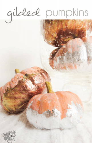 DIY metallic pumpkins - Pocketful of Posies