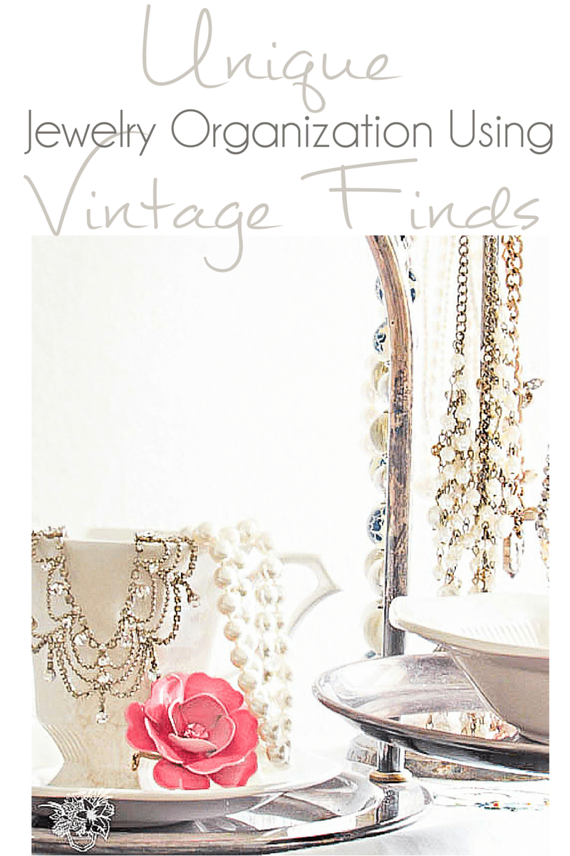 Using Thrift Store Finds to Organize your Jewelry