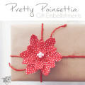 Pretty Poinsettia DIY Gift Bows - Pocketful of Posies