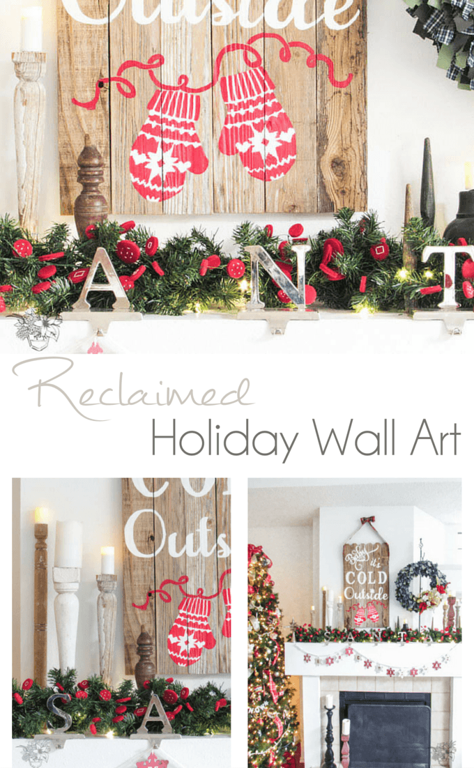 Salvaged Wood Holiday Sign - Pocketful of Posies