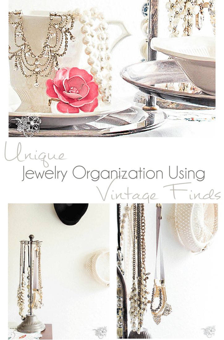 Organinzing Jewelry Using Thrift Store FInds