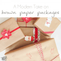 Brown Paper Christmas Presents - Pocketful of Posies