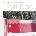DIY Christmas Gift Bags made with upcycled materials - Pocketfulof Posies