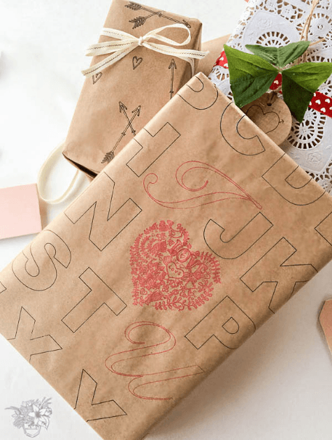 Preppy and Unique DIY Valentines Day Wrapping Paper using Silhouette Machine