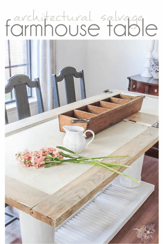 DIY Old Door Dining Table - Pocketful of Posies