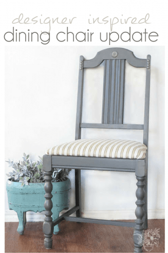 Thrifted dining chairs get a fresh new look