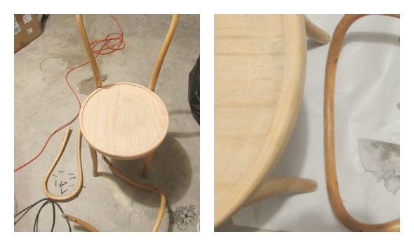 Bentwood/Steamed Wood Chair Makeover