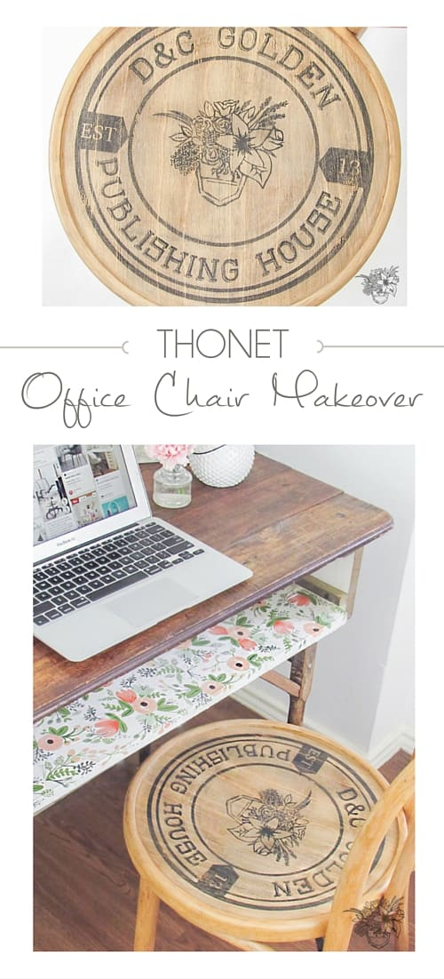 How to apply custom graphic to chair seat - Thonet Office Chair Makeover