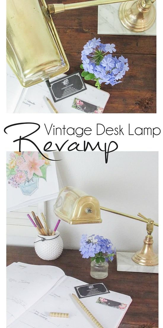 Antique Desk Lamp Restoration and Rewire - Pocketful of Posies