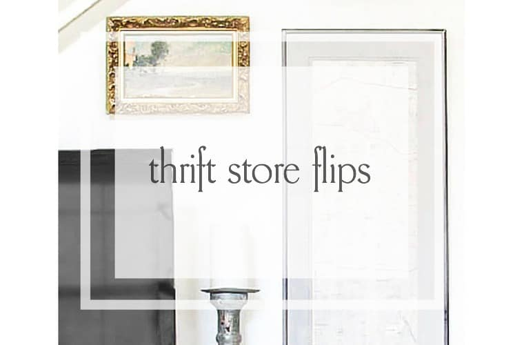 budget decorating using thrift store finds