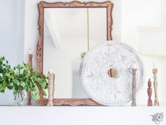 Thrifted Ceiling Medallion Makeover, DIY Wall Medallion, Thrift Store Flip - Pocketful of Posies