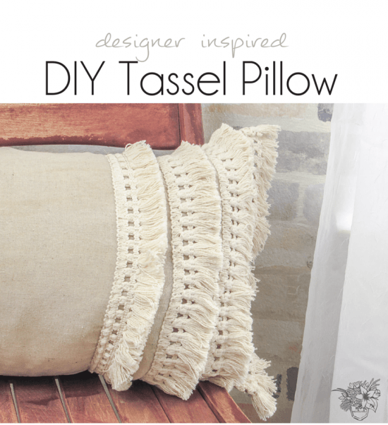 designer inspired tassel pillow - Pocketful of Posies