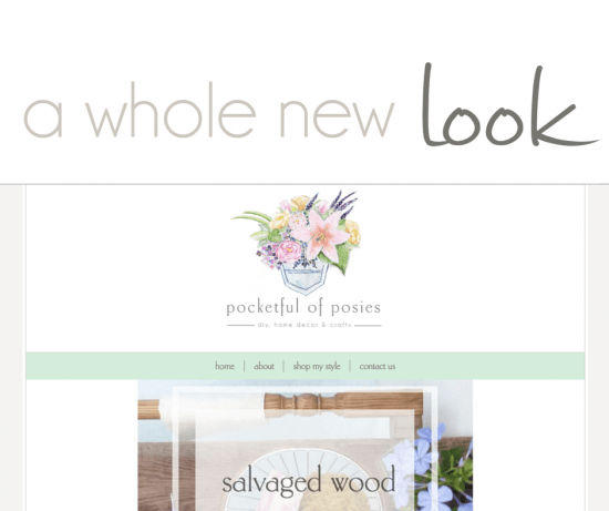 A Whole new look Introducing Pocketful of Posies new website