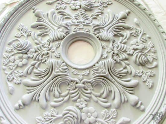 Thrifted Ceiling Medallion Makeover - Pocketful of Posies