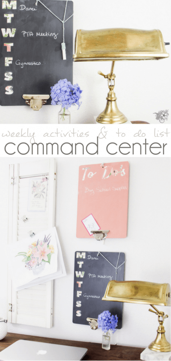 weekly activities and to do list Command Center - Pocketful of Posies