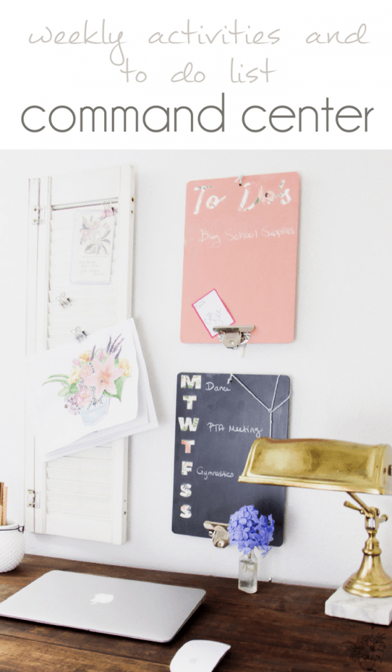 Weekly Activites and To Do List Command Center, Back to School Organization, Blog Planning Tools - Pocketful of Posies