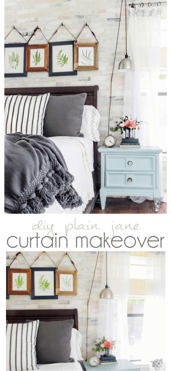 DIY Curtain Makeover, DIY Curtains, Create and Share Challenge
