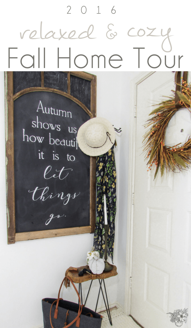 Calm Neutrals Fall Home Tour - Pocketful of Posies