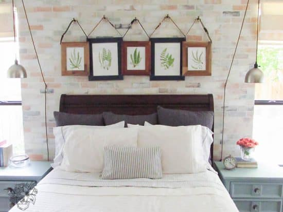 My Home Style: Before and After Romantic Industrial Frames, DIY Free Hanging Frames, DIY Belt Frames - Pocketful of Posies