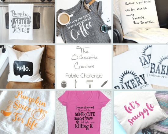 8 Silhouette Fabric Craft Projects, Fabric Inspiration