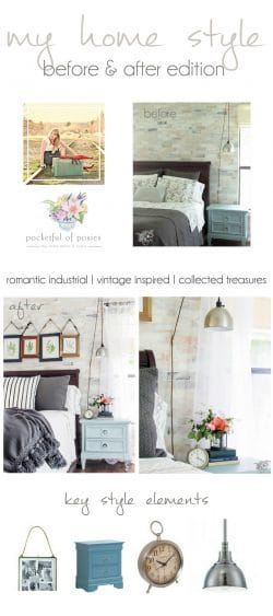 Romantic Industrial Master Bedroom Makeover