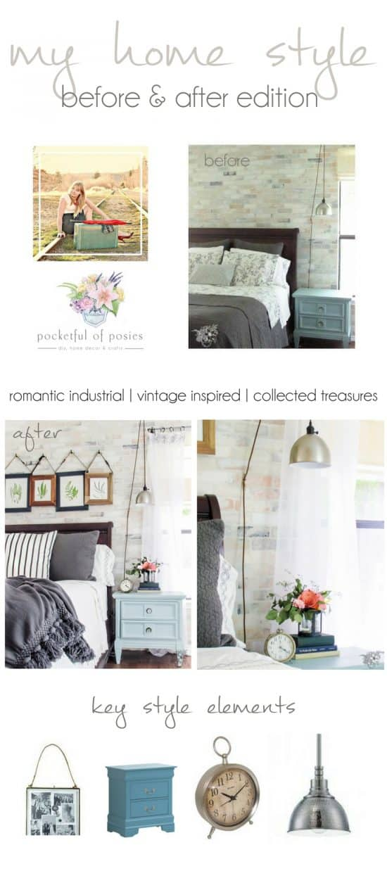 My Home Style: Before and After Romantic Industrial Master Bedroom Makeover