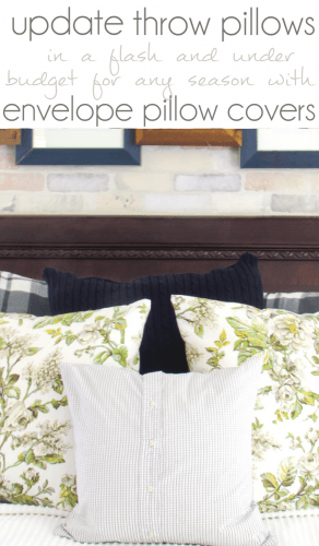 DIY Throw Pillow, DIY Pillow Covers, Envelope Pillow Cover, Inexpensive Throw Pillows, Budget Decorating
