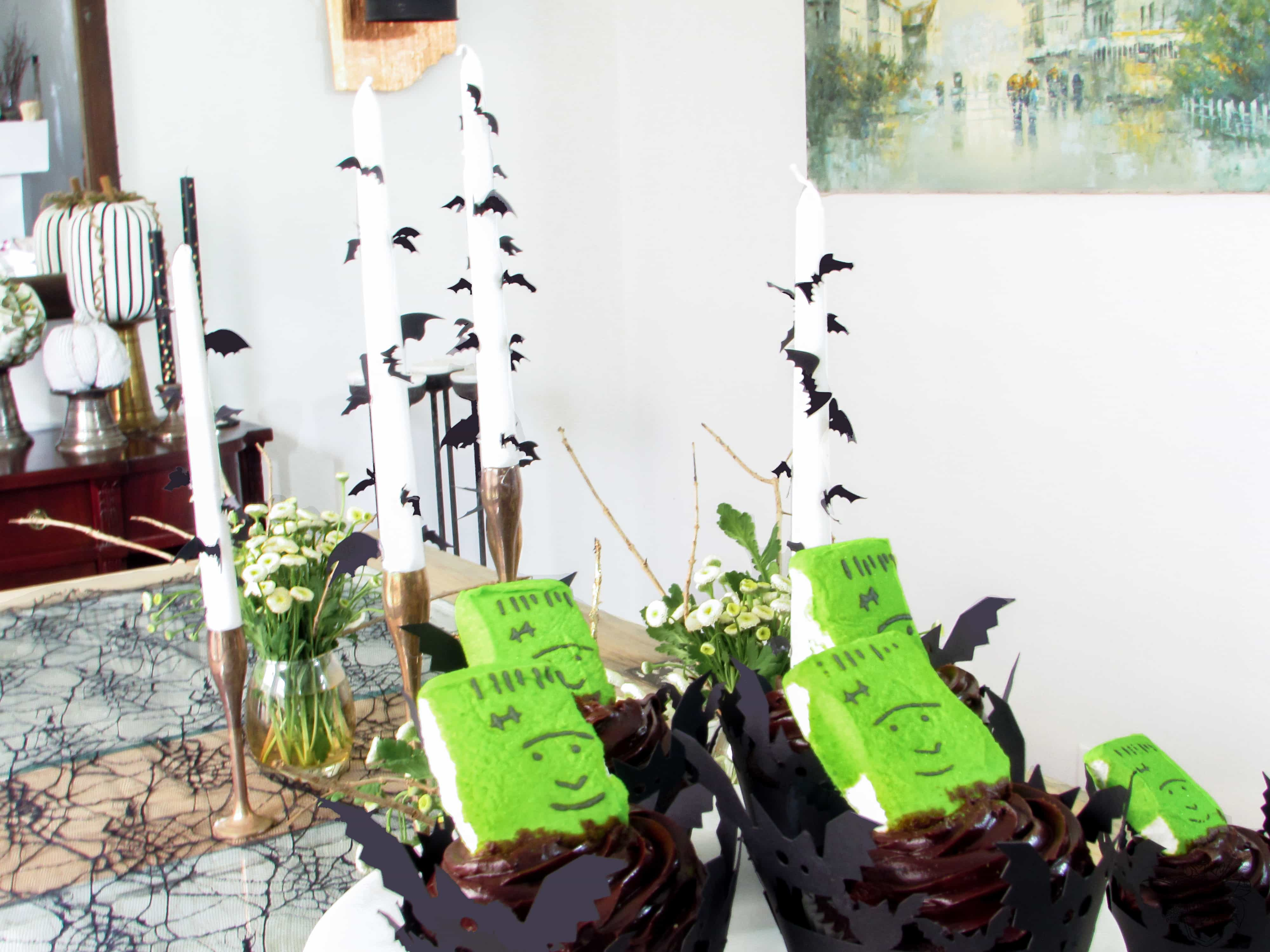 Quick and Easy Halloween Decorating, DIY Bat Candles, DIY Halloween Decor - Pocketful of Posies