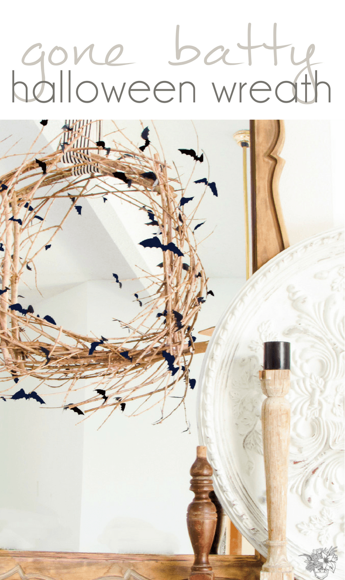 Easy and Fast DIY Halloween Wreath, Bat Halloween Wreath, Bat Wreath