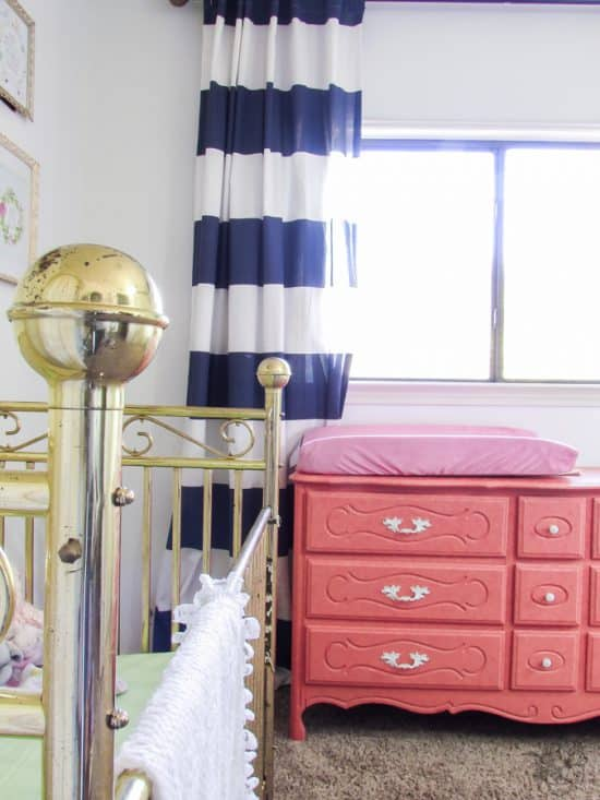Coral, Mint, Navy, Blush, Gold Girls Room, Big Girl Room