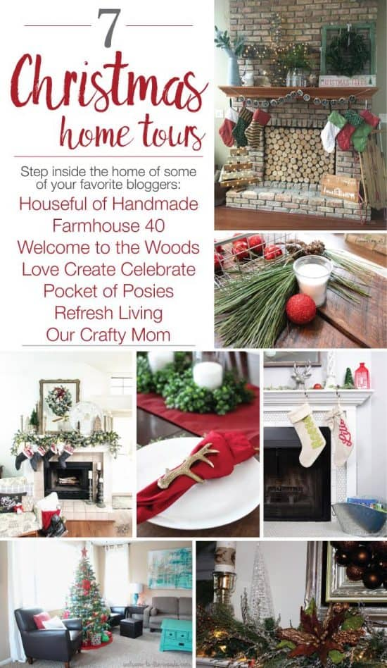 Christmas Home Tour, Comfortable Christmas Home Tour, Red, White and Cozy Christmas Hometour
