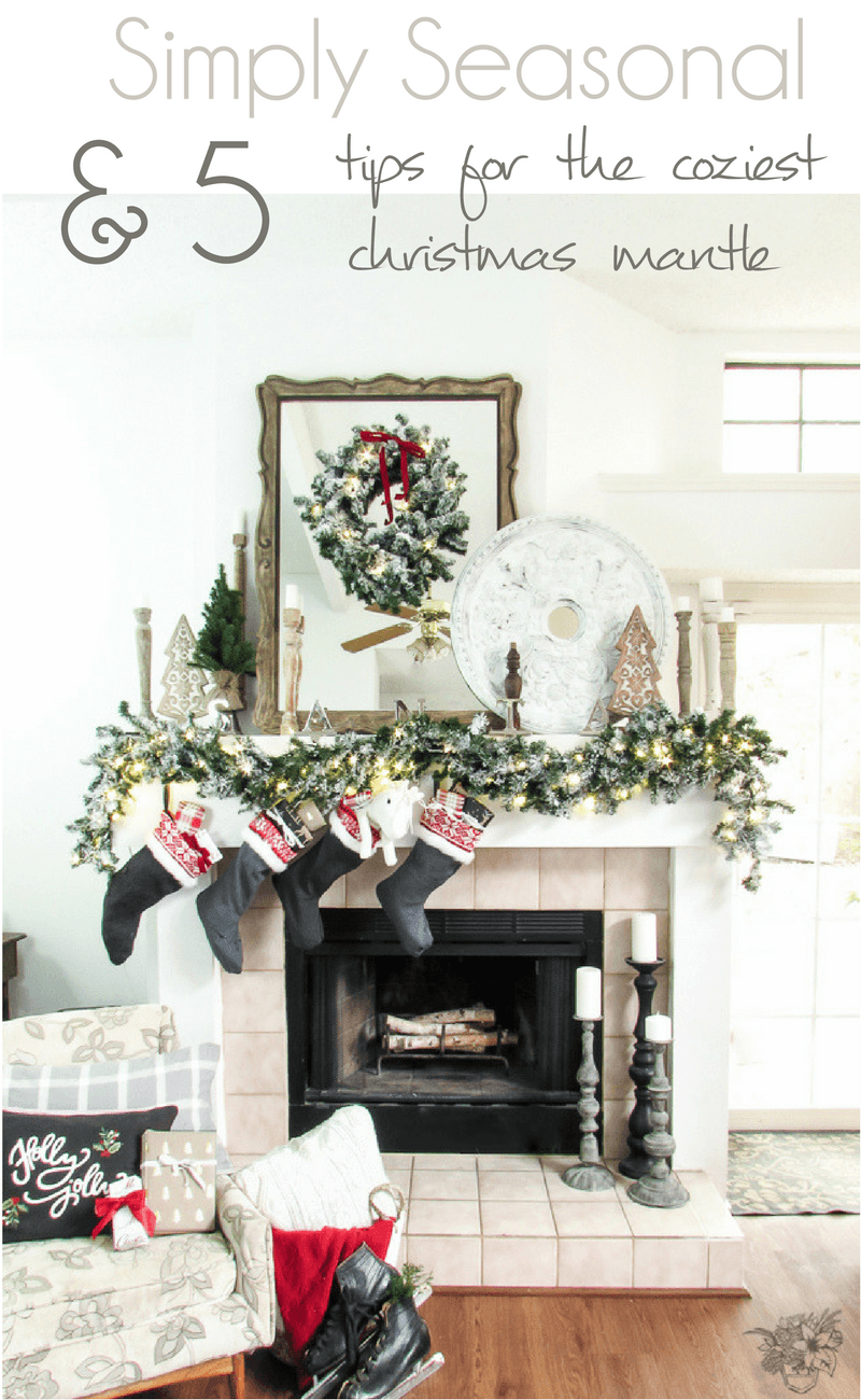 Cozy Winter Decorating, Winter Mantle, 5 Tips for the Coziest Winter Mantle
