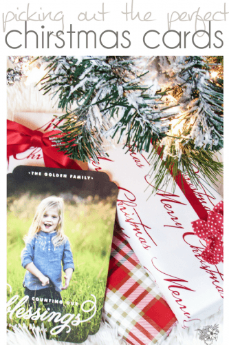 Picking out the Perfect Christmas Cards