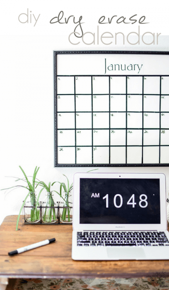 dry erase vinyl calendard diy vinyl applying straight