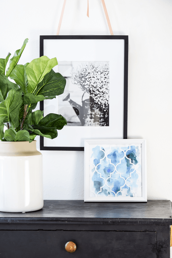 DIY Wall Art, DIY Gallery Wall Art, DIY Thirft Store Frame Makeover, DIY Watercolor Abstract Art