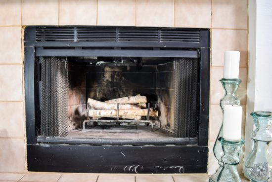 Painted Fireplace, Fireplace makeover, Painted Fireplace Box, How To Clean Your Fireplace Permanetly