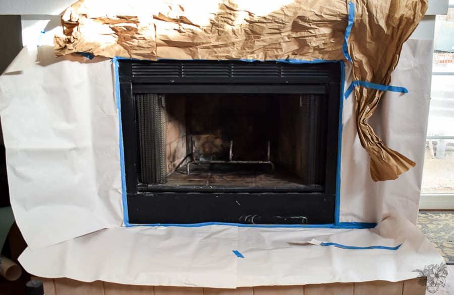 permanently clean fireplace ,Painted Fireplace, Fireplace makeover, Painted Fireplace Box, How To Clean Your Fireplace Permanetly, permanently clean fireplace