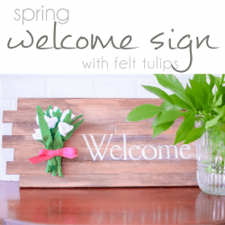 Spring Welcome Sign, DIY Sign, Silhouette Sign Tutorial, Silhouette Hack